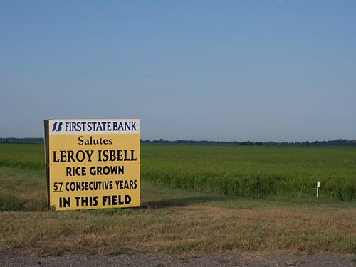 First State Bank congratulating Leroy Isbell