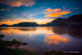Sunset of Mekong River in Luang Prabang | by reubenteo