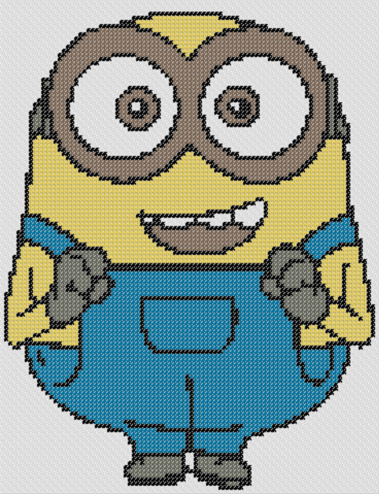 Preview of Beginner cross stitch: Bob (Minions)