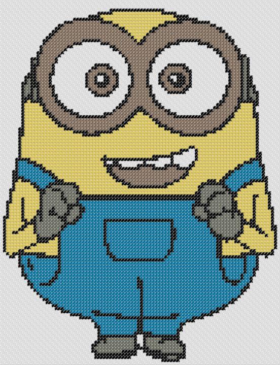 Preview of Beginner cross stitch: Bob (Minions)