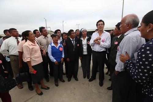 Ministro Fander Falconí cumplió agenda en Santa Elena