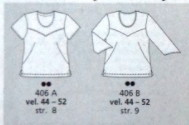 burda plus spring 2004 french dart t-shirt line drawing