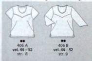 burda plus spring 2004 french dart t-shirt line drawing