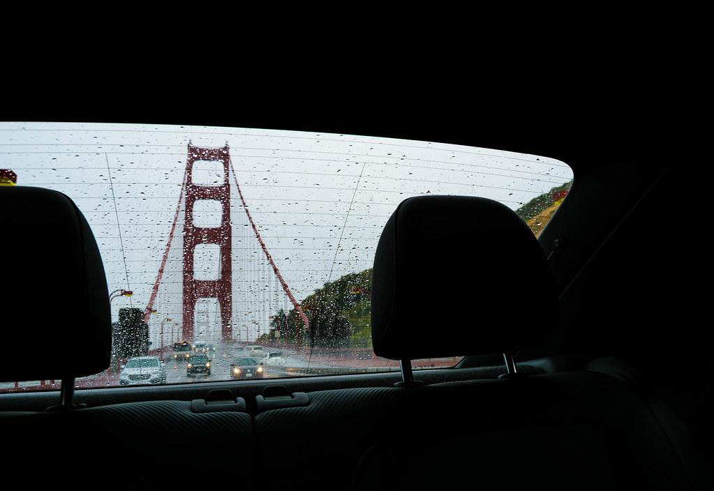 Cruzando en coche el Golden Gate