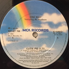 ONE WAY featuring. al AL HUDSON:CUTIE PIE(LABEL SIDE-A)