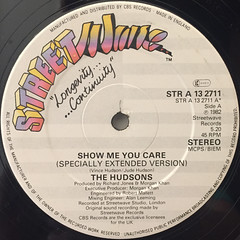 THE HUDSONS:SHOW ME YOU CARE(LABEL SIDE-A)