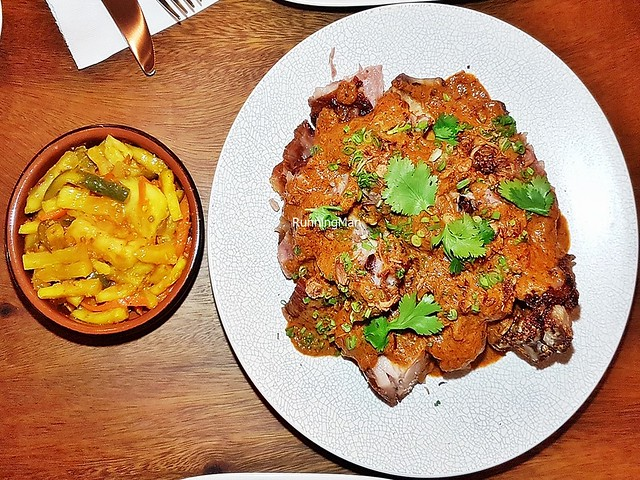 Curry Pork Knuckle With Achar
