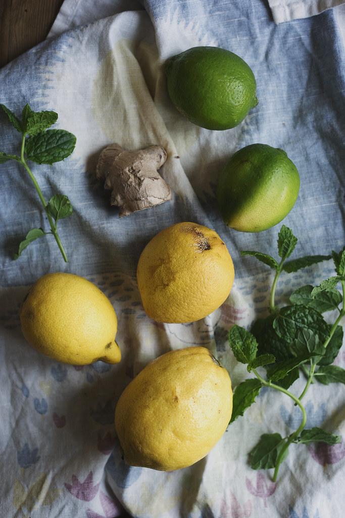 citron och ingefärslemonad