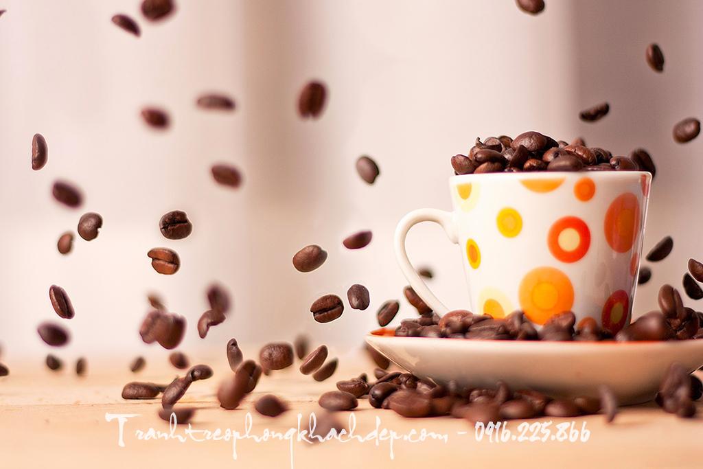 Tranh canvas tinh vat tach cafe nhu nhay mua an tuong
