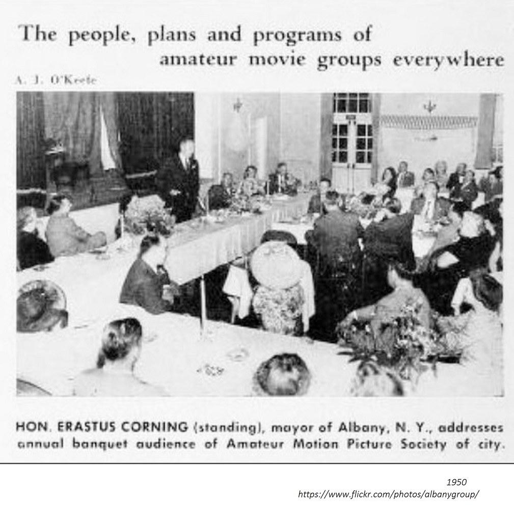 ... Mayor Erastus Corning addressing Amateur Motion Picture Society 1950  albany ny | by albany group archive