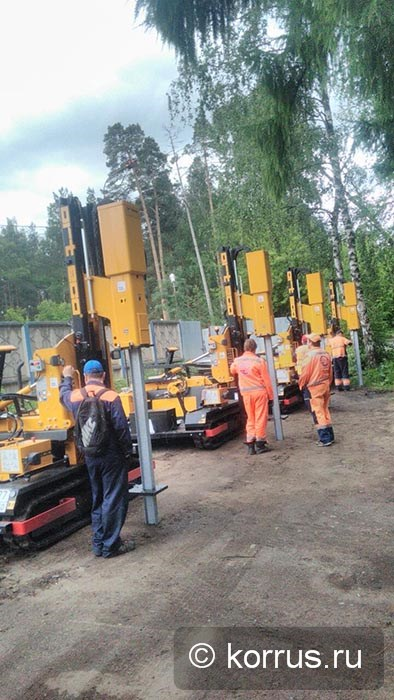 самоходные сваебойные машины «ORTECO BTP HEAVY DUTY» в ГБУ Московской области «Мосавтодор»