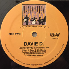 DAVIE D.:HERE FOR YOU(LABEL SIDE-B)