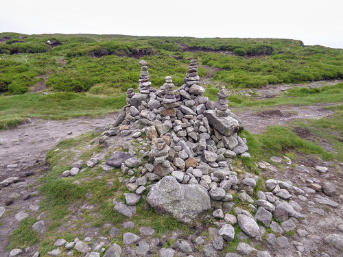 A rather fancy cairn