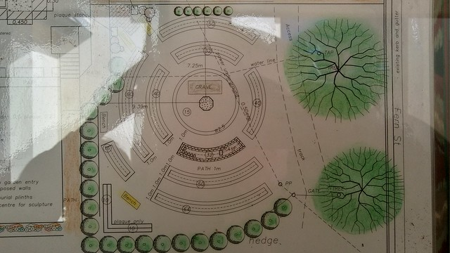 Plan for Memorial Garden at St Mary Star of the Sea Gerringong
