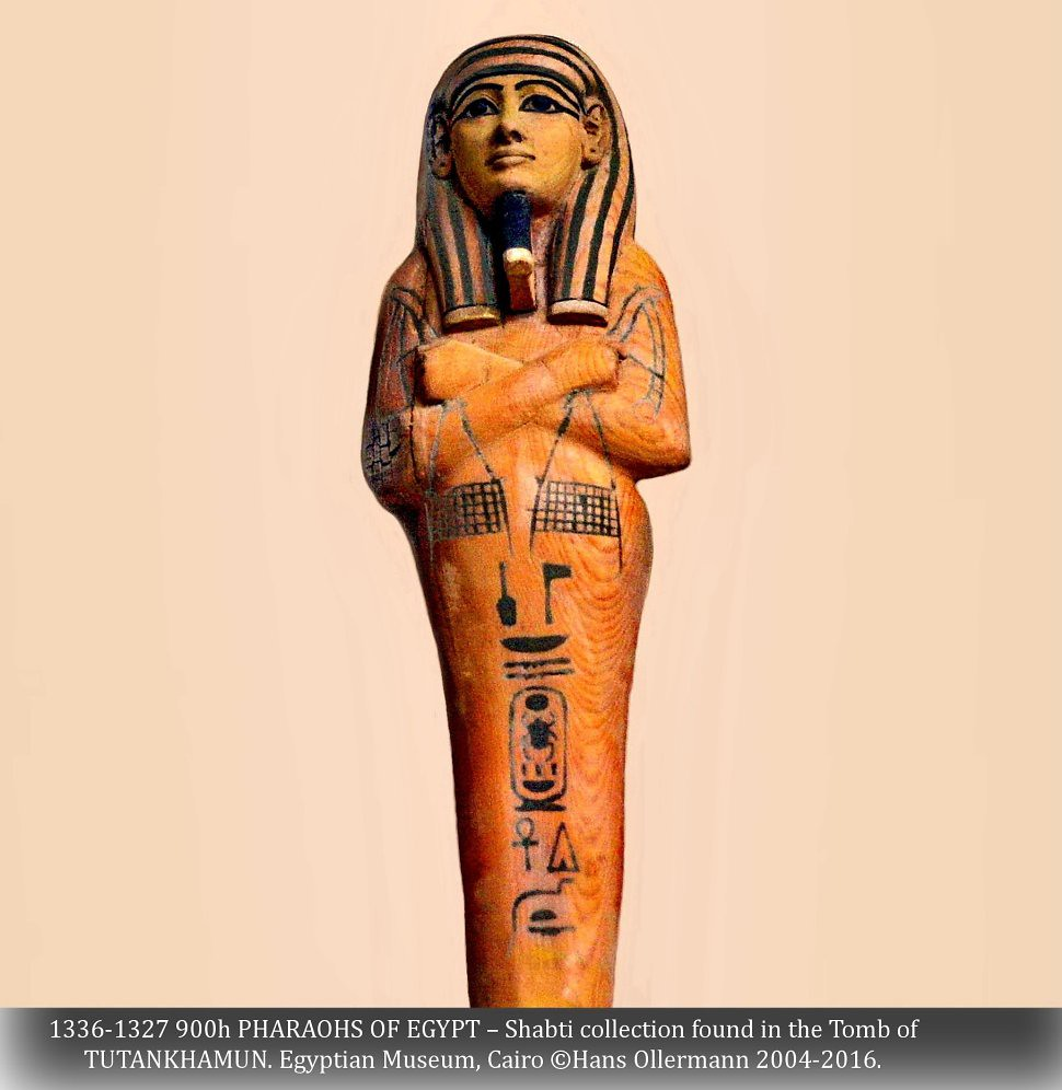 ... 1336-1327 900h PHARAOHS OF EGYPT – Shabti collection found in the Tomb  of TUTANKHAMUN