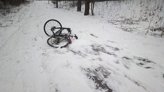 Tip: don't cycle down snow-covered ice | by hugovk