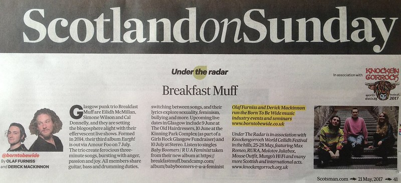 Scotland On Sunday, 21 May 2017, Breakfast Muff