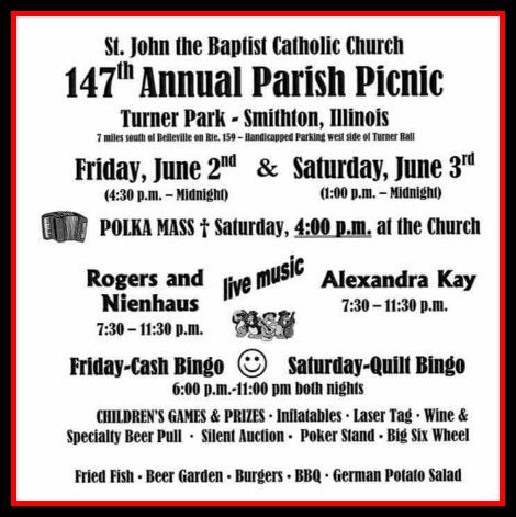 St John the Baptist Picnic 6-2, 6-3-17