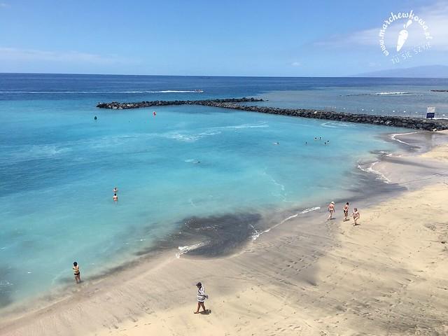 plaża, woda, ocean, Teneryfa, Playa del Duque