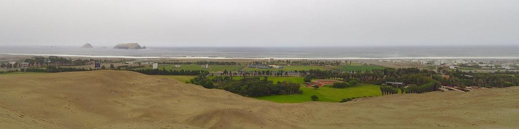 Oceà Pacífic des de les ruïnes de Pachacamac (Perú)