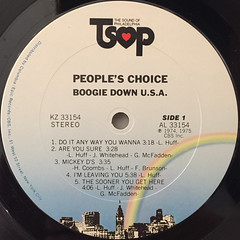 PEOPLE'S CHOICE:BOOGIE DOWN USA(LABEL SIDE-A)