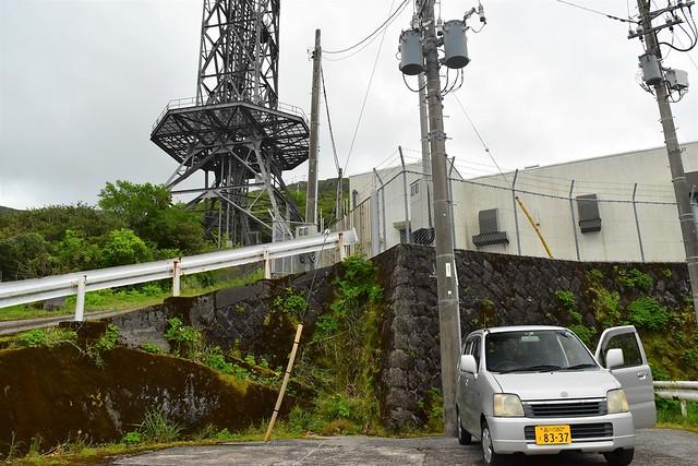 三原山登山口の無線中継所