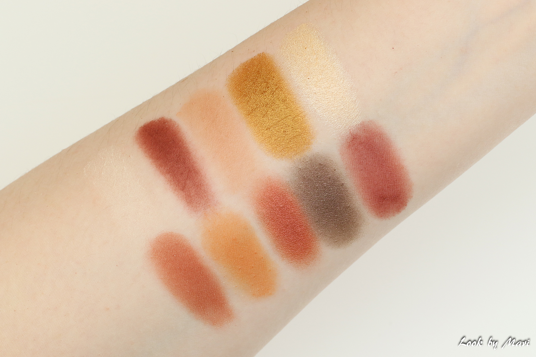 6-1 nyx perfect filter rustic antique swatches swatch sävyt kädellä värit