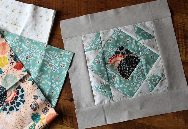 SBS Week 21 Hourglass Block & Fabrics