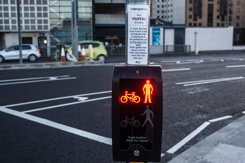 PUFFIN CROSSING IN BELFAST [ A NEW TYPE OF PEDESTRIAN CROSSING]-129113