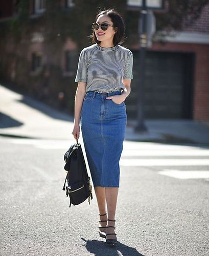 saia midi jeans 8