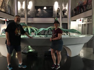 Tracey and Scott in MIB Immigration | by Disney, Indiana