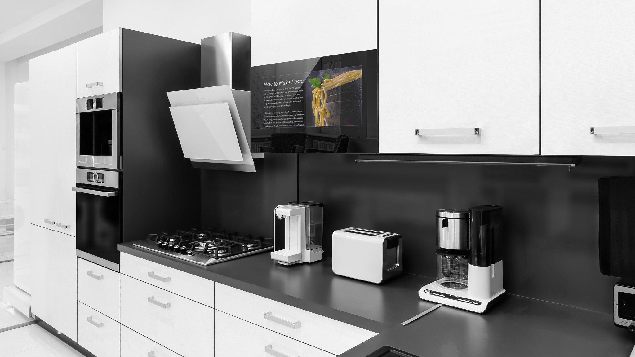 Fernseher Für Küche | Kuchen Fernseher Smart Tv Touchscreen 21 5 Zoll 54 Cm Android