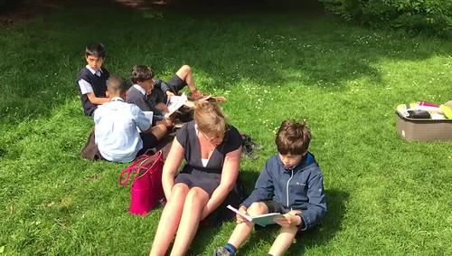 4a leest in het park