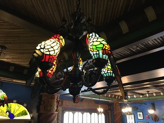 Stained Glass Tiki Bird Lamp Inside the Jungle Skipper Canteen | by Disney, Indiana