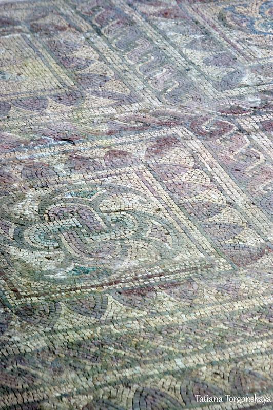 Фрагмент позднеантичной мозаики