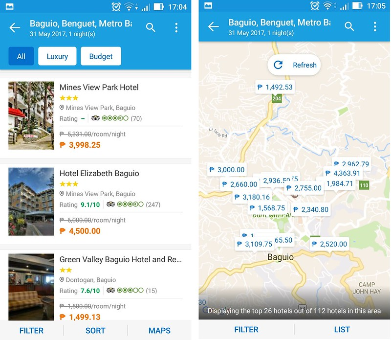Hotel Discounts using Traveloka Booking App
