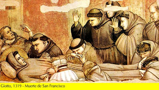 Giotto, 1319 -Muerte de S. Francisco