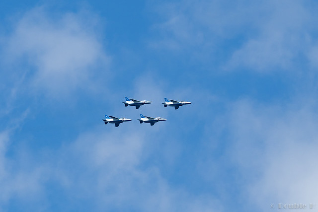 Blue Impulse's rehearsal flight for the 410th anniv. of Hikone Castle (24)