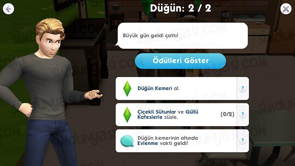 The Sims Mobile Evlenmek - Düğün Serüveni - İkinci Aşama