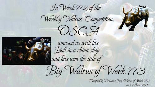 WW772 Winner Certificate - Osca