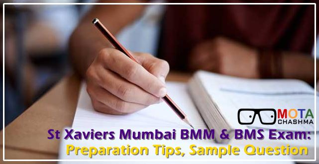 St Xaviers BMM and BMS Exam Pattern Sample Questions