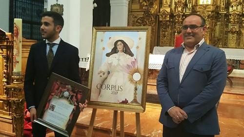 Presentación del cartel del Corpus de la Parroquia de Santa María Magdalena