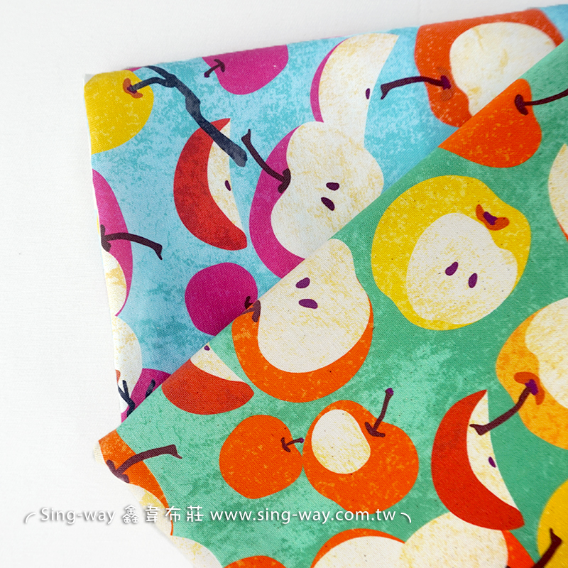 布學盒裝牛津布數位印花布(3尺)-蜜果 手工藝DIy拼布布料 SW00500-11