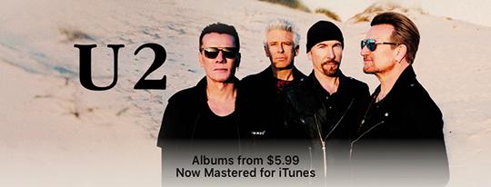 U2's album catalog mastered for iTunes & on sale