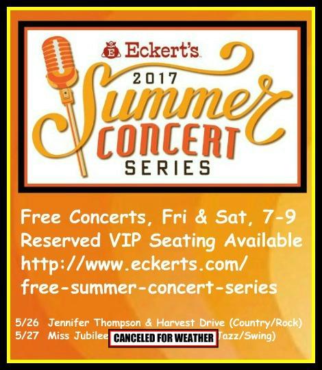Eckert's Summer Concerts 5-26, 5-27-17