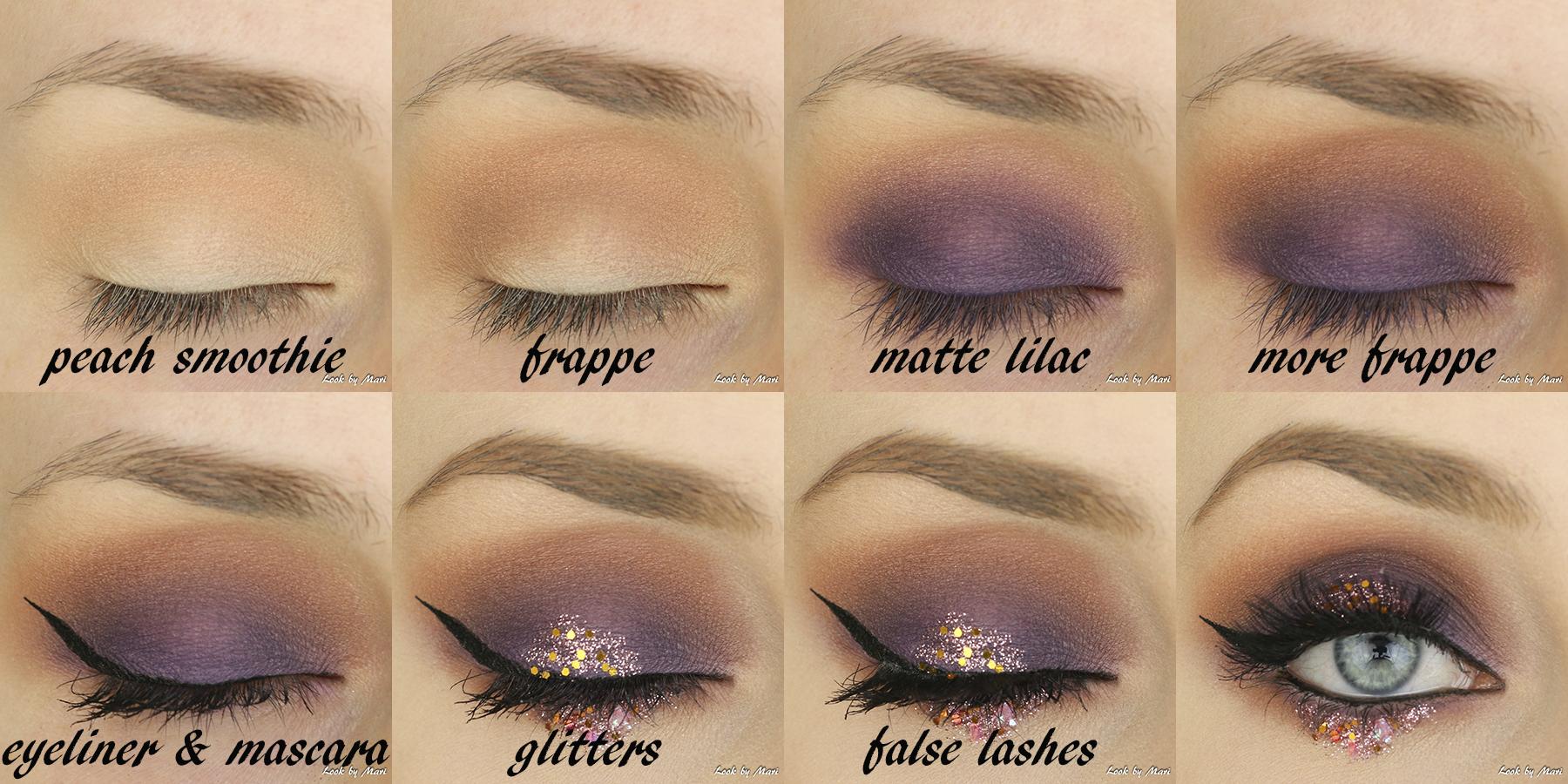 5 lilac violet glitter eye makeup tutorial inspiration ideas inspo inspiraatiota silmämeikki glitteri