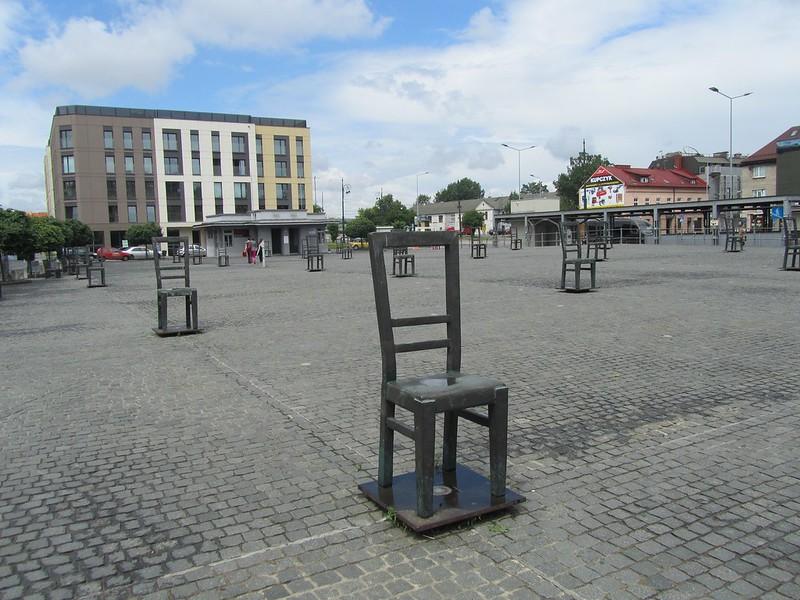 Plaza de los heroes en Podgorze en Cracovia