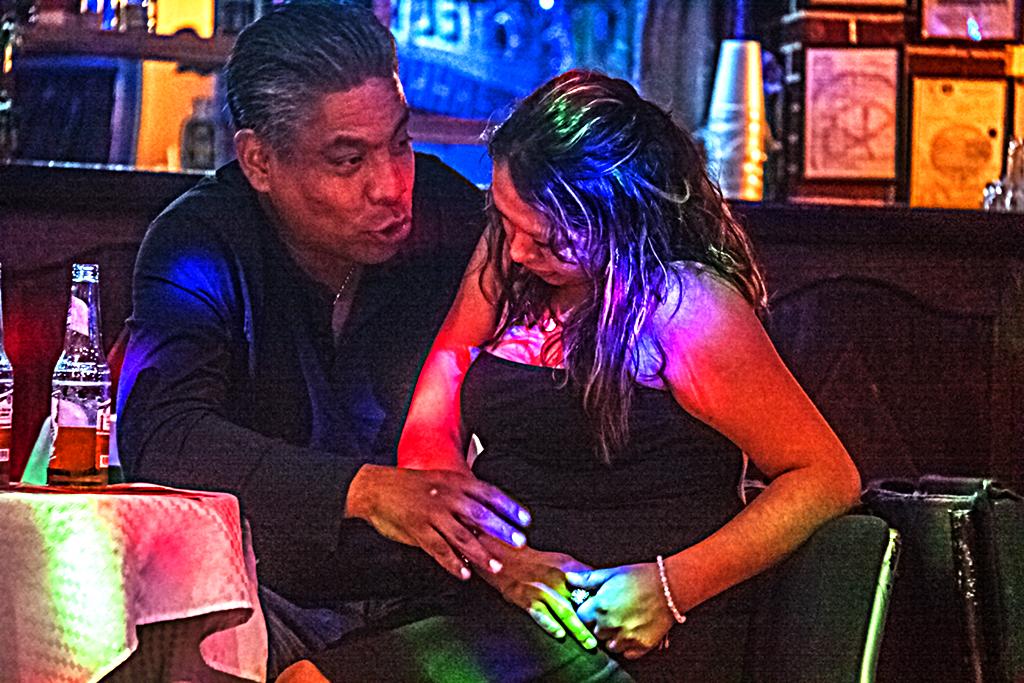 Couple in nightclub off Garibaldi Square--Mexico City 2