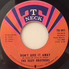 THE ISLEY BROTHERS:IT'S YOUR THING(LABEL SIDE-B)
