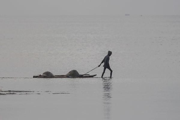 Dragging a raft
